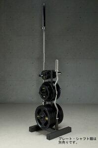 【10日はポイントアップDAY】IROTEC(アイロテック)オリンピックプレートラックHPM(径50mm専用)/シャフトとプレートを同時収納/パワーラック ダンベル バーベル ベンチプレス 筋トレ トレー