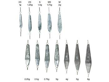 バリバスわかさぎ専用四面オモリ・2.25g〜6g_1通販画像です。