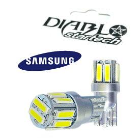 LEDバルブ T10 SAMSUNG製 7020 ポジションランプ/ナンバー灯/ドアランプ/ルームランプ ハイエース セレナ ステップワゴン ワゴンR エスティマ NBOX led バルブ