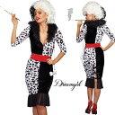 コスプレ 衣装 DreamGirl ドリームガール DG 10671 クルエラ 3点セット 正規品 101匹わんちゃん ダルメシアン ヴィランズ 悪女 毛皮 コ…
