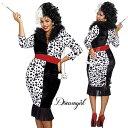 コスプレ 衣装 DreamGirl ドリームガール DG 10671X クルエラ 3点セット BIG SIZE 正規品 ビッグサイズ 101匹わんちゃん ダルメシアン …