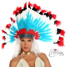 コスプレ 衣装 ForPlay フォープレイ ヘッドドレス FP 993600 インディアン 正規品 フェザー はね 羽 かぶりもの ウォーボンネット ネイティブ アメリカン コスチューム 衣装 衣裳 仮装 セクシー かわいい ファッション おしゃれ コーデ ハロウィン セレブ 海外