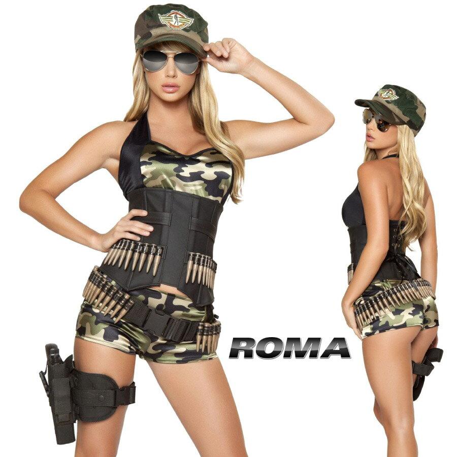 コスプレ 衣装 ROMA COSTUME ローマ RM 4332 アーミーベイブ 5点セット / OF15 正規品 コスプレ衣装 仮装 大人用 コスチューム costume ダンス セクシー 迷彩 カモフラージュ 自衛隊 コンバット アーミー ミリタリー 陸軍 軍隊 制服 ハロウィン