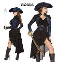 コスプレ 衣装 ROMA COSTUME ローマ RM4652 海賊 パイレーツ4点セット 正規品 ジャックスパロウ フック 船長 キャプテ…