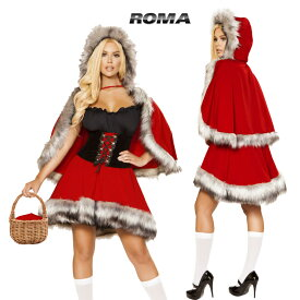 コスプレ 衣装 ROMA COSTUME ローマ RM4854 赤ずきん2点セット 正規品 グリム童話 狼 おばあさん コスチューム 衣装 衣裳 仮装 ビスチェ パニエ チュチュ ウルフ フェイクファー ふわふわ セクシー かわいい ファッション おしゃれ コーデ ハロウィン セレブ 海外