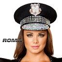 ROMA COSTUME ローマ ハット RM- H4396 ポリス 警察 / ラインストーン / OF15 正規品 ぼうし 帽子 コスチューム 衣装 衣裳 仮装 制服 …