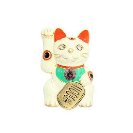 ブローチ VFTQ SELECT ビフテキセレクト VF-SE-BR010 招き猫 正規品 ねこ ネコ キャット キラキラ アクセサリー ギフト プレゼント お祝い 誕生日 縁起物 福 ラッキー かわいい カジュアル レディース ファッション 女性 おしゃれ コーデ セレブ 海外 インポート