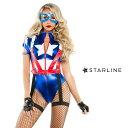 STARLINE スターライン SL-S6096 キャプテンアメリカ 2点セット 正規品 アベンジャーズ マーベル キャラクター コスチューム 衣装 衣裳 仮装 ストレッチ かわいい セクシー かっこいい エロい おしゃれ コーデ ハロウィン セレブ 海外 costume USA TDL USJ