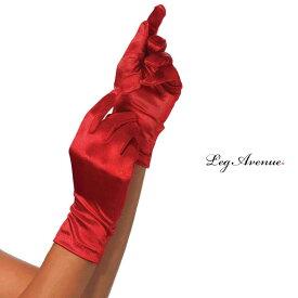 コスプレ 衣装 LEG AVENUE レッグアベニュー グローブ LA 2B レッド 正規品 コスプレ衣装 赤 サテン 制服 フリーサイズ ショートグローブ ハロウィーン コスチューム バレエ ダンス ステージ ショー 結婚式 ウエディング セクシー かわいい 衣裳 海外 セレブ TDL USJ 仮装