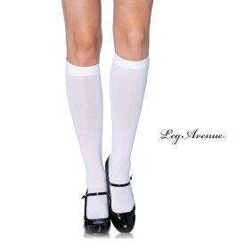 コスプレ 衣裳 LEG AVENUE レッグアベニュー ソックス LA 5572 ホワイト 正規品 コスプレ衣装 レディース ハイソックス パンスト ストッキング ひざした 膝下 くつした 靴下 無地 ファッション おしゃれ かわいい セクシー 白