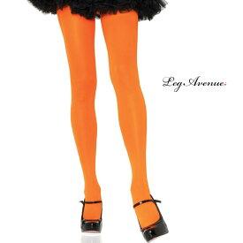 タイツ コスプレ 衣裳 LEG AVENUE レッグアベニュー LA 7300 オレンジ SP 正規品 コスプレ衣装 カラータイツ 無地 カラフル 透けにくい フリーサイズ ストレッチ ファッション おしゃれ ヘビロテ かわいい セクシー オールシーズン ストッキング パンスト TDL USJ