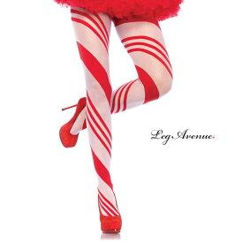 コスプレ 衣裳 LEG AVENUE レッグアベニュー タイツ ストッキング LA 7944 キャンディー ストライプ 正規品 コスプレ衣装 レディース カラータイツ しましま 透けにくい ファッション おしゃれ ヘビロテ かわいい セクシー クリスマス サンタ ストッキング パンスト TDL USJ