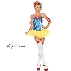 コスプレ 衣装 LEG AVENUE レッグアベニュー LA 85026 白雪姫 4点セット OF30 正規品 コスプレ衣装 白雪姫 スノーホワイト プリンセス 大人用 コスチューム セクシー かわいい 衣裳 仮装 コルセット ハロウィン ハロウィーン halloween costume 海外セレブ インポート