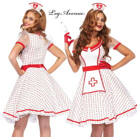 LEG AVENUE レッグアベニュー LA 85532 ナース 看護婦 2点セット 正規品 白衣の天使 コスプレ コスチューム 衣装 衣裳 仮装 職業 病院 ホスピタル セクシー かわいい ワンピース パニエ チュチュ ホワイト 白 ハロウィン セレブ アメリカ 海外 costume cosplay TDL USJ