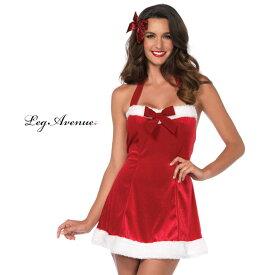 コスプレ 衣装 LEG AVENUE レッグアベニュー LA 86611 クリスマス サンタクロース 2点セット 正規品 ミニスカ サンタ コスチューム 衣裳 仮装 ファー フォルタ—ネック リボン かわいい セクシー ファッション おしゃれ コーデ シンプル レッド ハロウィン 海外