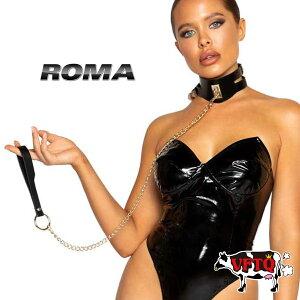 コスプレ 衣装 衣裳 仮装 ROMA COSTUME ローマ RMLI374 チョーカー 正規品 PVC SM 合皮 レザー ボンテージ 女王様 ファッション 小物 アクセ 大人 コスチューム かわいい セクシー おしゃれ ダンス 発