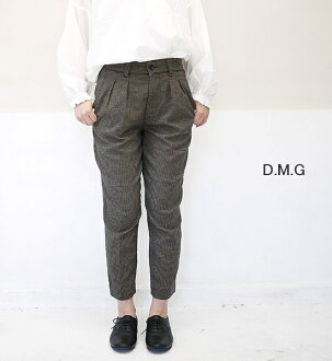Domingo underwear DMG D.M.G 14-015T TR check stretch tuck trouser underwear lady's latest point digestion