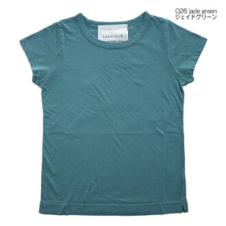 FABRIQUE en planete terre 91005 ファブリケアンプラネテール s/s Basic-t short sleeves T-shirt new color 026 jade green Jade Green Point digestion