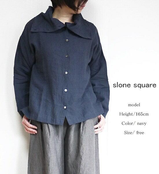 slone square 6094 スロンスクエア 東炊きリネン ルーズハイネック 2way ブラウス ポイント消化【お買い物マラソン 7月 最大ポイント10倍】
