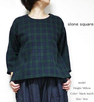 slone square 6883 スロンスクエアウールタータンラウンドブラウスポイント digestion