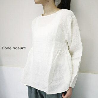 slone square 6078 スロンスクエアフレンチリネン side gathers blouse point digestion