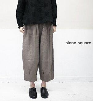 slone square 6462 スロンスクエアフレンチリネンボールパンツポイント digestion