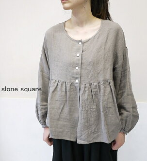 I cook the 30%OFF SALE/ sale slone square 8060 スロンスクエア east and digest the linen reshuffling blouse point