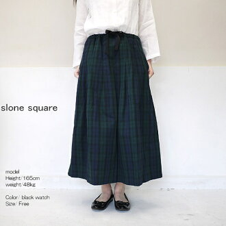 slone square 8386 スロンスクエア cotton check tax cart point digestion