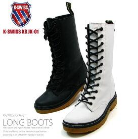 K-SWISS ケースイス ブーツ レディース ロング シンセティックレザー ロングブーツ KS JK01