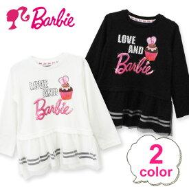 長袖Tシャツ ロンT 子供服 キッズ ベビー服 バービー ワンピース チュール 長袖 女の子 おしゃれ かわいい Barbie 13104