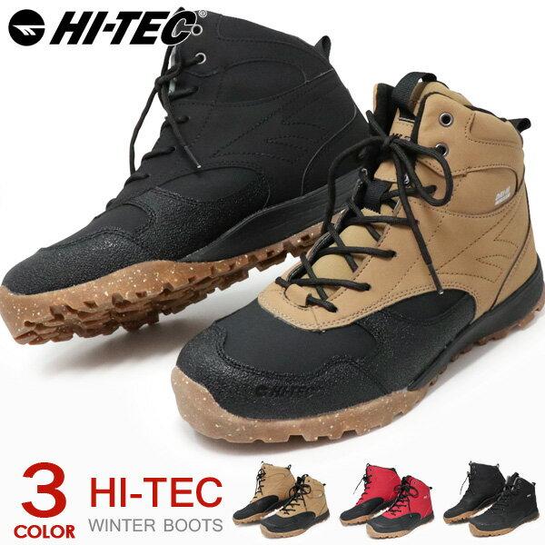 ハイテック トレッキングシューズ アオラギ 防水 防寒 メンズ 登山靴 スニーカー ウインターブーツ ハイカット HI-TEC AORAKI EXPLORER WPG HKU20