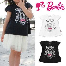 バービー Tシャツ 半袖 キッズ ベビー 半袖シャツ 子供服 女の子 ベビー服 キャラクター フレンチスリーブ レース Barbie 342177004