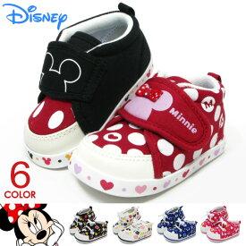 ミッキーマウス ベビーシューズ キッズ 靴 ミッキー ミニー スニーカー ベビー 男の子 女の子 子供 赤ちゃん ディズニー DS0150 DS0153