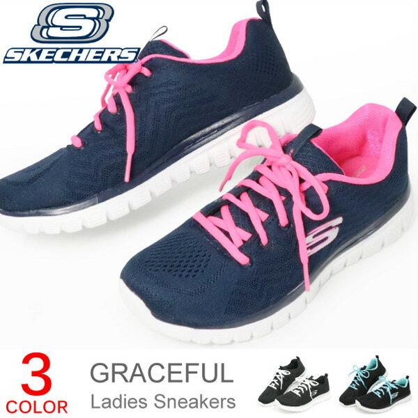 スケッチャーズ ランニングシューズ レディース スニーカー ウォーキングシューズ 靴 SKECHERS GRACEFUL GET CONNECTED 12615