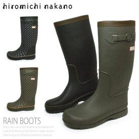 レインブーツ 長靴 レディース ロング 防水 ヒロミチナカノ L016R ラバーブーツ