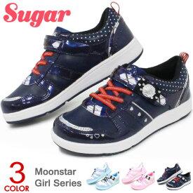 ムーンスター キッズ スニーカー 女の子 ジュニアシューズ 靴 通学靴 コートシューズ リボン シュガー SG C476