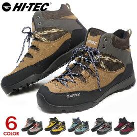 ハイテック トレッキングシューズ アオラギ 防水 メンズ レディース 登山靴 スニーカー ウォーキングシューズ ハイカット HI-TEC AORAKI MID WP HKU10