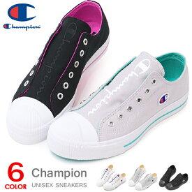 チャンピオン スニーカー スリッポン レディース メンズ 靴 ローカット キャンバス シューズ Champion センターコート SLIP LC025 白 黒