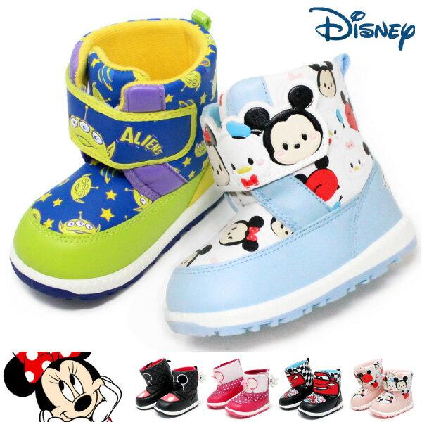 ミッキーマウス ブーツ キッズ ベビー スノーブーツ ディズニー ミニー カーズ トイストーリー ツムツム 雪遊び 男の子 女の子 防水
