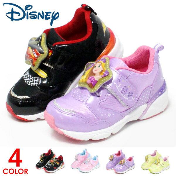 ディズニー 光る靴 プリンセス カーズ ラプンツェル アナ雪 男の子 女の子 キッズ スニーカー キッズシューズ C1203