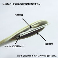 (010)■Konohaカード■2枚のIC乗車券用改札エラー防止カード