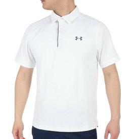 【3月5日24h限定!エントリーでP10倍〜】アンダーアーマー(UNDER ARMOUR) ゴルフ ポロシャツ メンズ テックポロシャツ 1290140 WHT/GPH/GPH GO (メンズ)