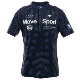 デサントゴルフ(DESCENTEGOLF) ゴルフ ポロシャツ メンズ 市松柄プリント鹿の子シャツ DGMPJA31-NV00 (メンズ)