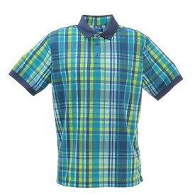 フィドラ(FIDRA) ゴルフ ポロシャツ メンズ マドラスチェックポロシャツ FD5HTG10 GRN (メンズ)