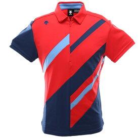 デサントゴルフ(DESCENTEGOLF) ゴルフ シャツ メンズ ライジングデザイン ショートスリーブシャツ DGMPJA09-RD00 (Men's)