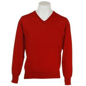 3/30日限定!要エントリーでポイント10倍〜! PG ゴルフウェア メンズ 撥水Vネックセーター PGMFT1803 RED (Men's)