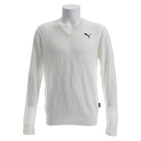 【買いまわりでポイント最大10倍!】プーマ(PUMA) ゴルフウェア メンズ ゴルフ カモ Vネック セーター 923765-03 (Men's)