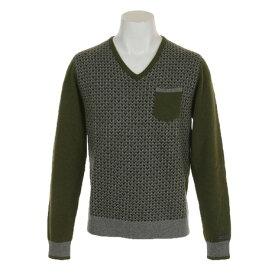 ディマッティア(DIMATTIA) 【多少の傷汚れありの為大奉仕】ゴルフウェア メンズ 長袖セーター Pixel V 6M4004 KHK (メンズ)