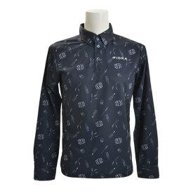 フィドラ(FIDRA) 【多少の傷汚れありの為大奉仕】ボタンダウン 長袖ポロシャツ FB110111NVY (Men's)