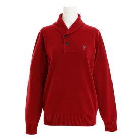フィドラ(FIDRA) ゴルフウェア メンズ カシミヤショールカラーニット FV38VJ06 RED (Men's)